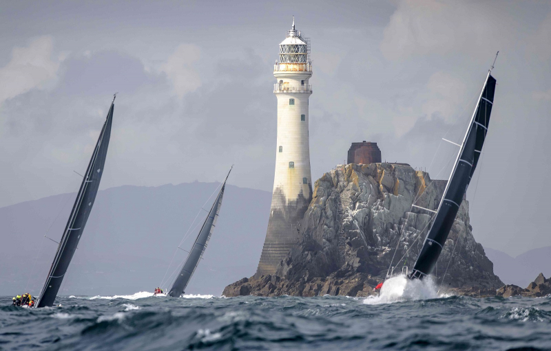 The Fastnet Rock off southwest Ireland is the symbol of the  Rolex Fastnet Race. The 2021 edition will be the 49th © Kurt Arrigo