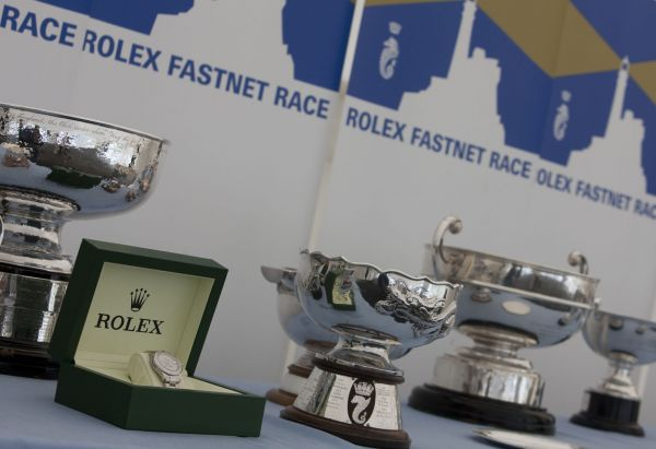 Trophies at the Prizegiving of the 2009 Rolex Fastnet Race