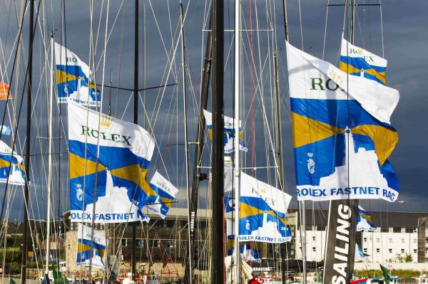 The fleet docked in Sutton Harbour Marina. Photo: Rolex/Carlo Borlenghi