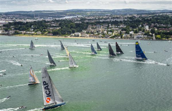 Start of the 2013 Rolex Fastnet Race. Photo: Rolex/Kurt Arrigo