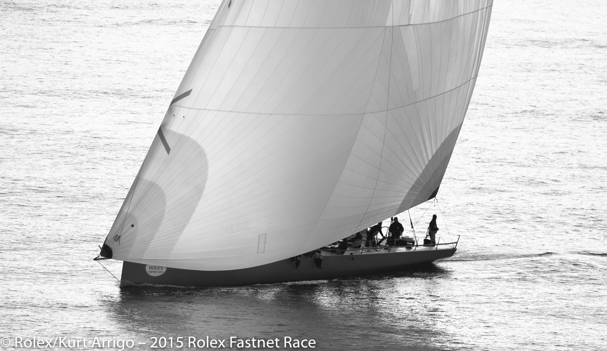 Ron O'Hanley's Cookson 50, Privateer, racing in IRC CK. Photo: Rolex/Kurt Arrigo