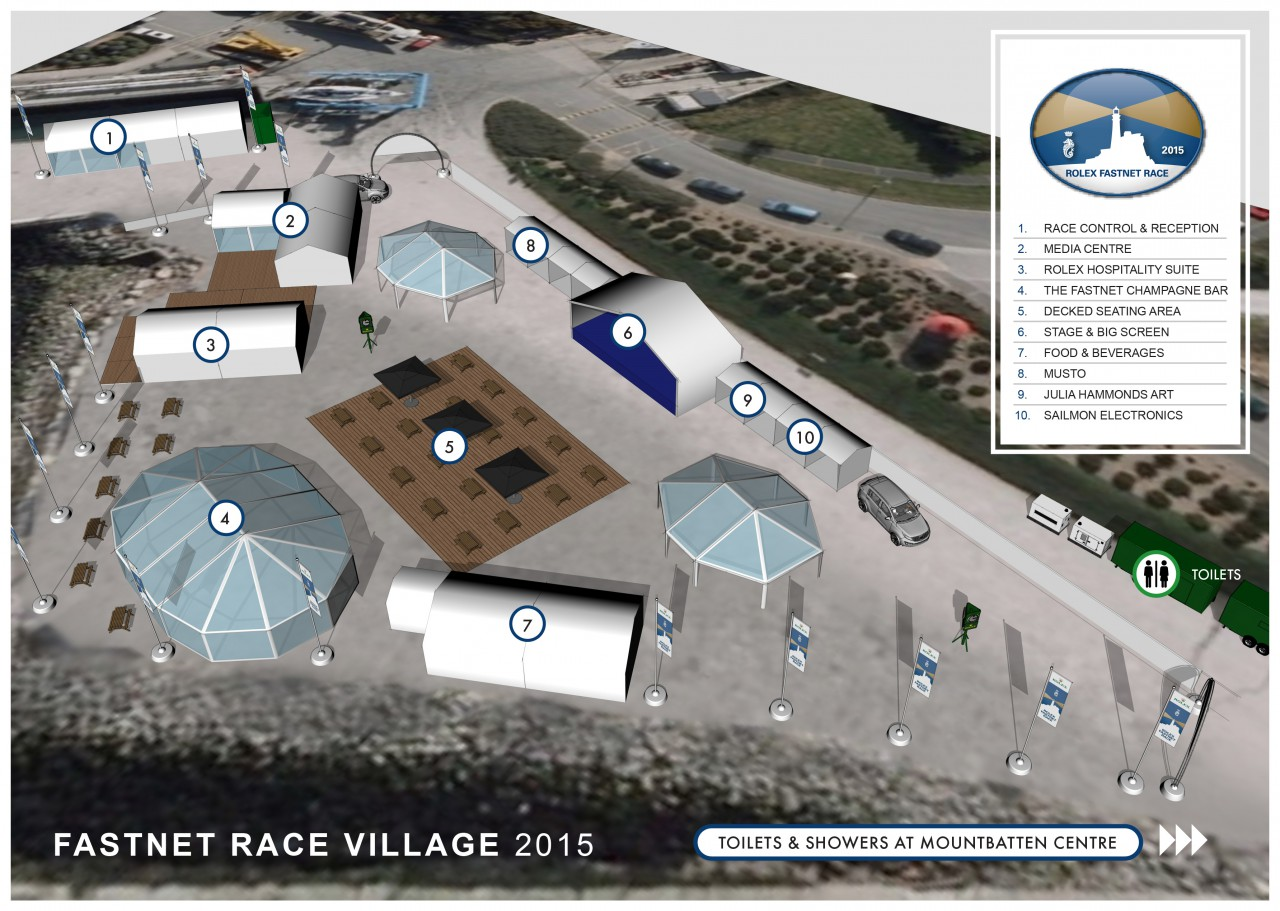 Plan of the Race Village in Plymouth