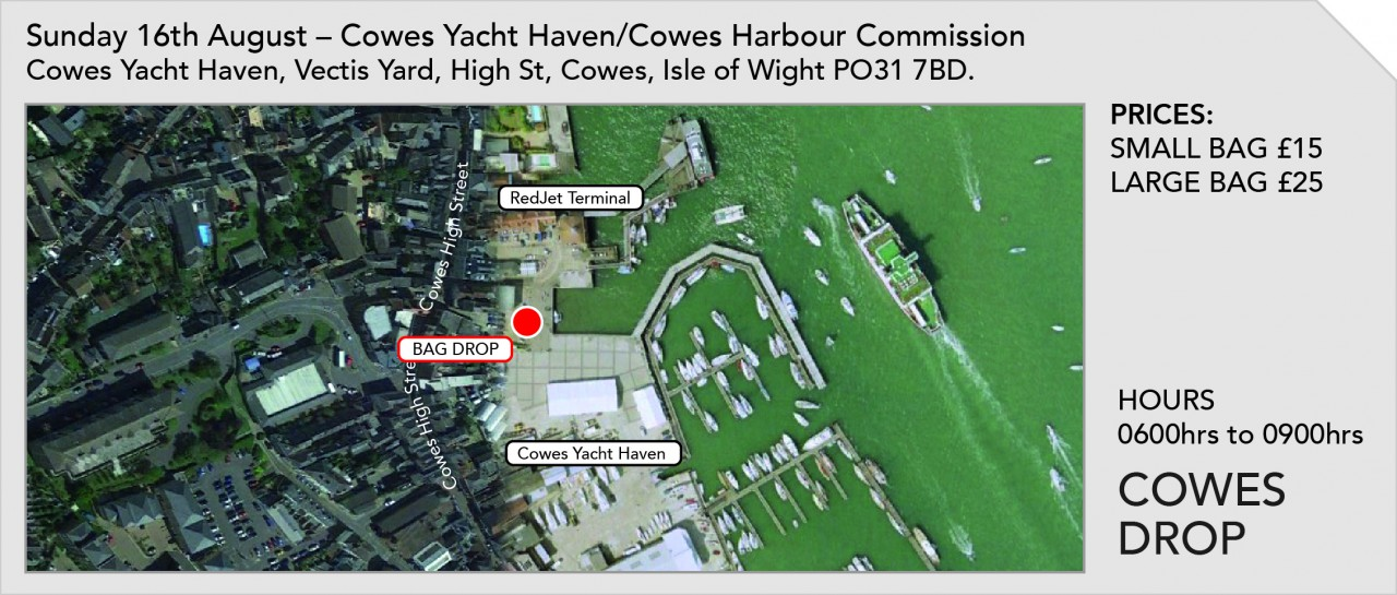 Bag Drop at Cowes Harbour Commission