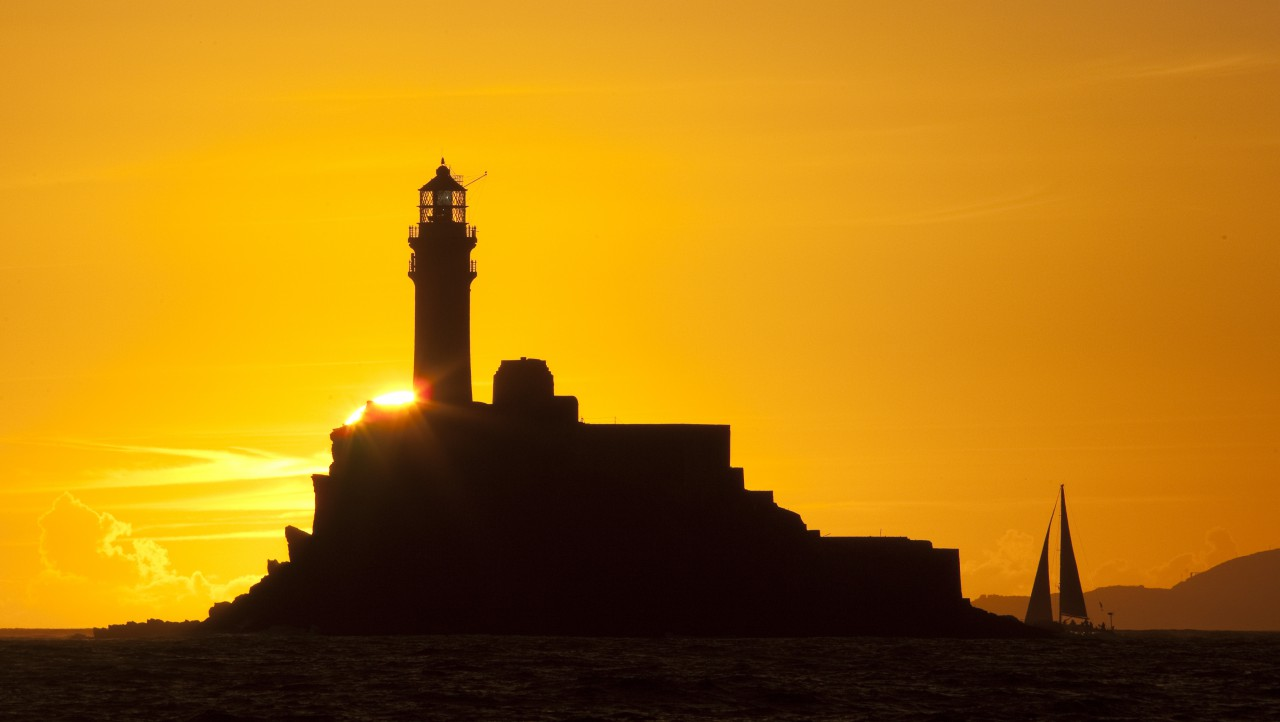 The lure of the Fastnet Rock as captured by Rolex/Daniel Forster in the Rolex Fastnet Race