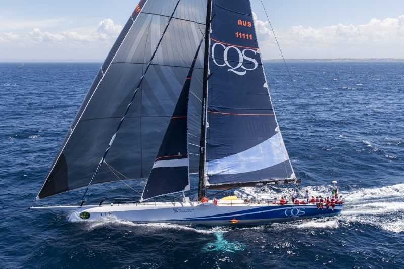 Ludde Ingvall still holds the double record set 22 years ago in the Rolex Fastnet Race, taking both line honours and handicap victory. He's back this year with the 100ft DSS foiling CQS © Andrea Francolini