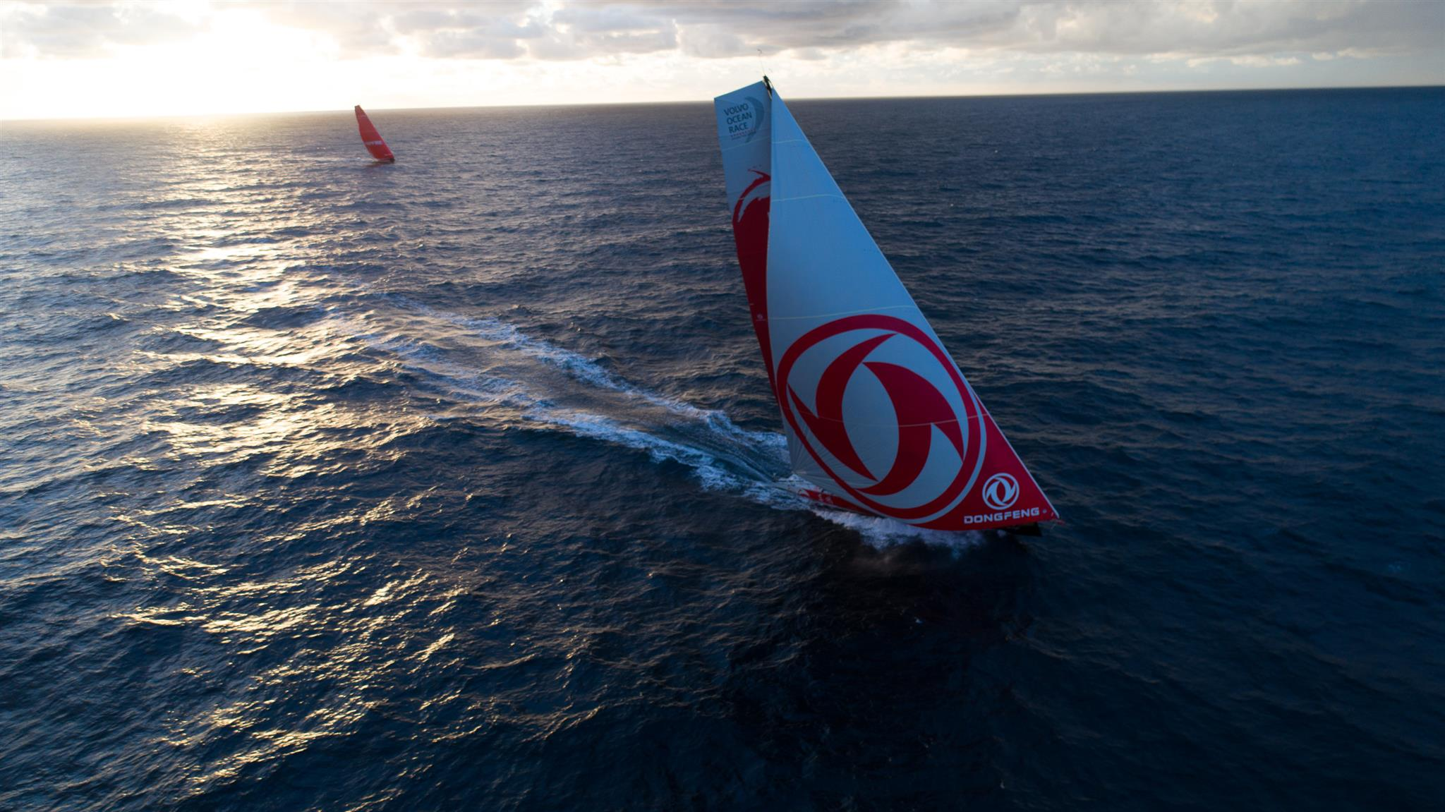 The Volvo Ocean 65 Dongfeng, skippered by Charles Caudrelier of France clinched a hard-fought class win in the 47th biennial Rolex Fastnet Race with just a 54 second lead on VO65 MAPFRE © J.Lecaudey/Volvo Ocean Race