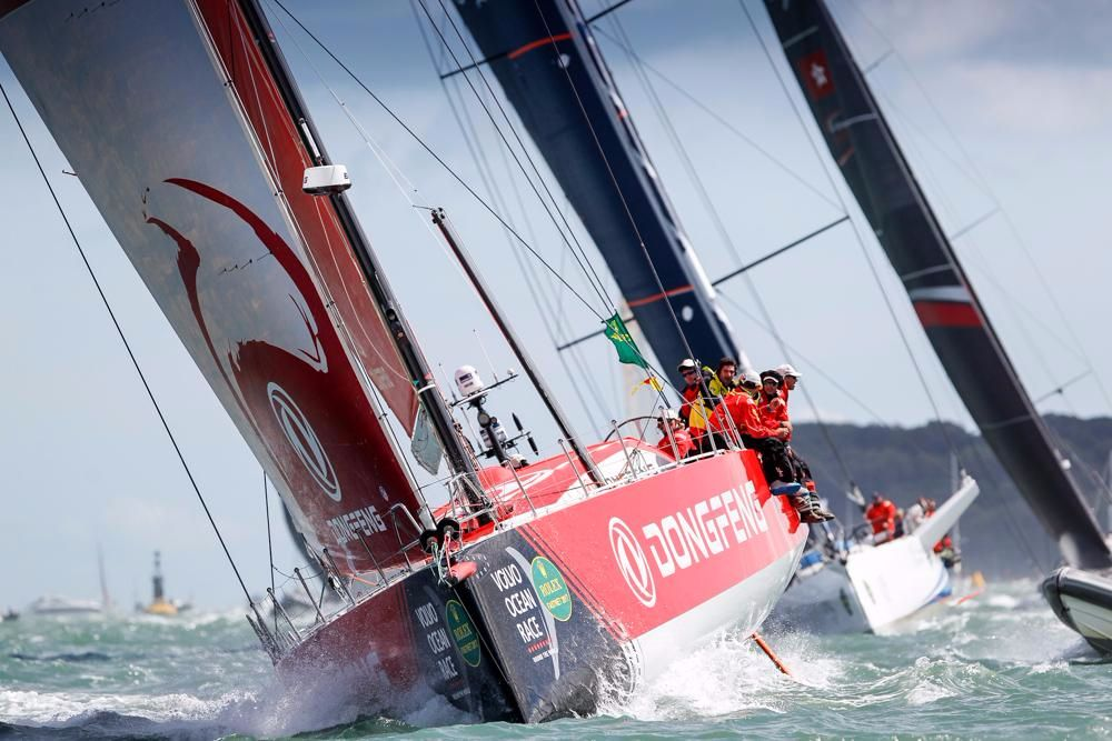 VO65 Dongfeng Race Team, skippered by Charles Caudrelier battled with MAPFRE all the way to the finish line, securing a win by under a minute © RORC/Paul Wyeth
