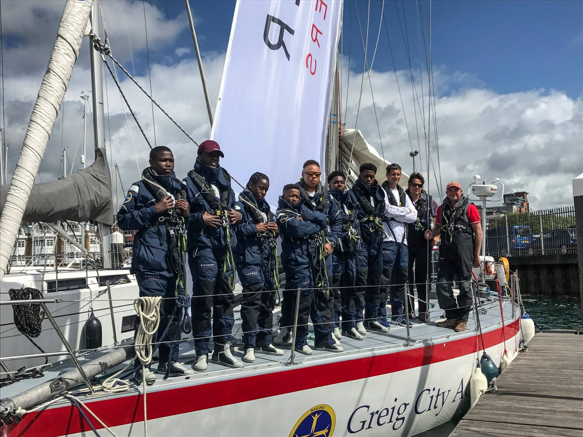 Inner city school kids from the Greig City Academy in Hornsey, east London take on their greatest challenge in the 605nm Rolex Fastnet Race in August © Lou Johnson/Box PR Ltd