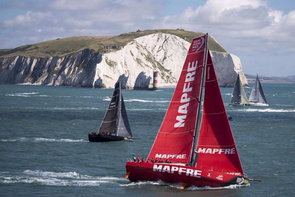 MAPFRE VO65 at the Needles iconic landmark © Rolex/Carlo Borlenghi