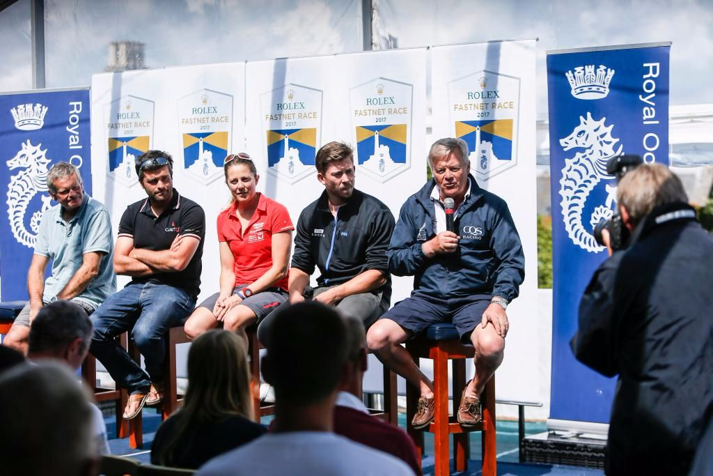 Sharing their thoughts on tomorrow's Rolex Fastnet Race, a selection of skippers from across the fleet took part in a Q& A session for media © Paul Wyeth/RORC