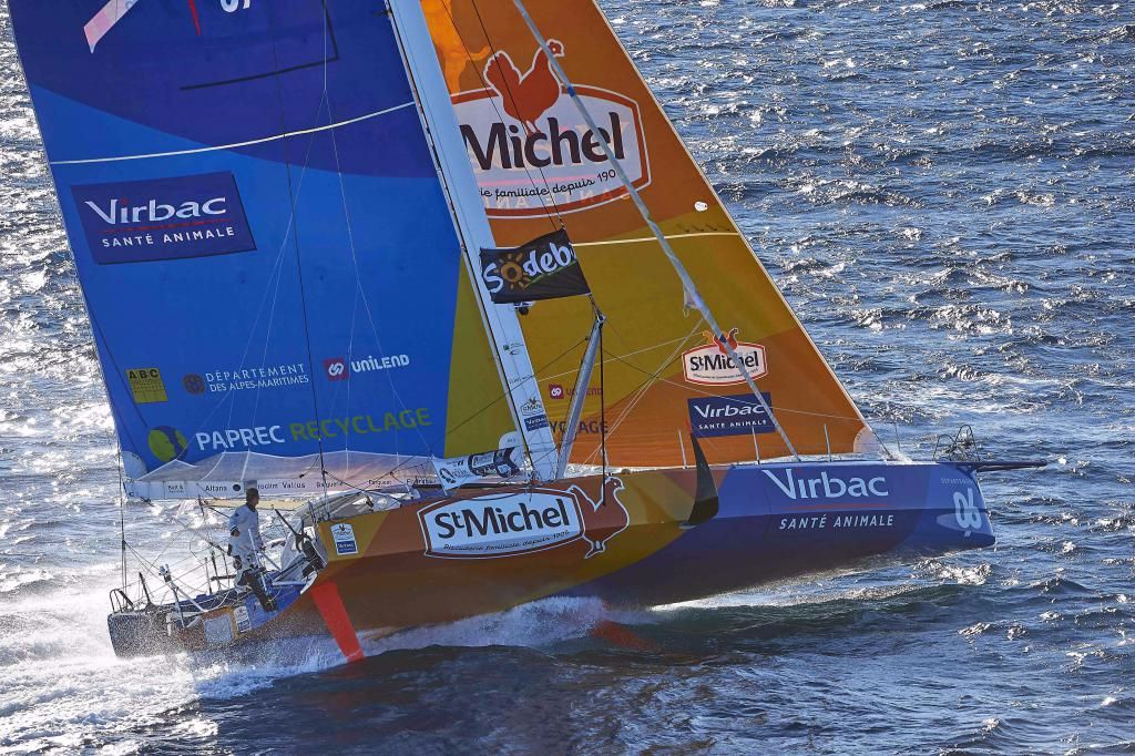 Stmichel-Virbac, sailed by Jean-Pierre Dick and Yann Elies. Photo: Yvan Zedder