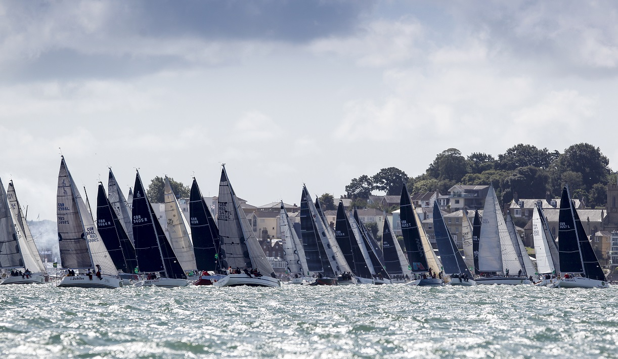 80 starters in IRC Three make it one of the largest classes taking part in the race. Credit: Paul Wyeth