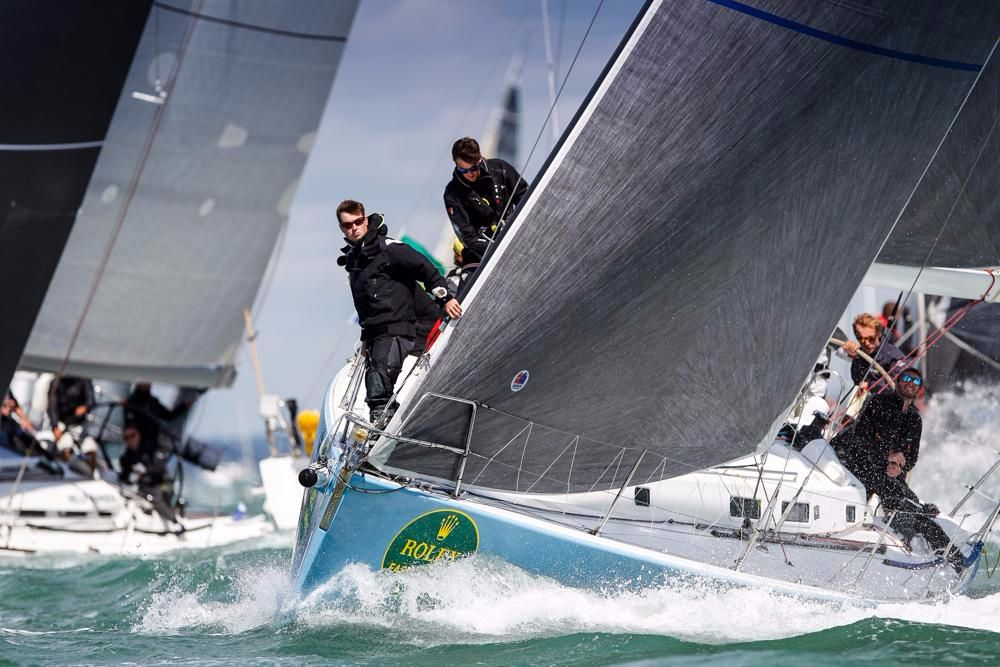 Leading IRC Two is Gilles Fournier's J/133, Pintia. Credit: Paul Wyeth