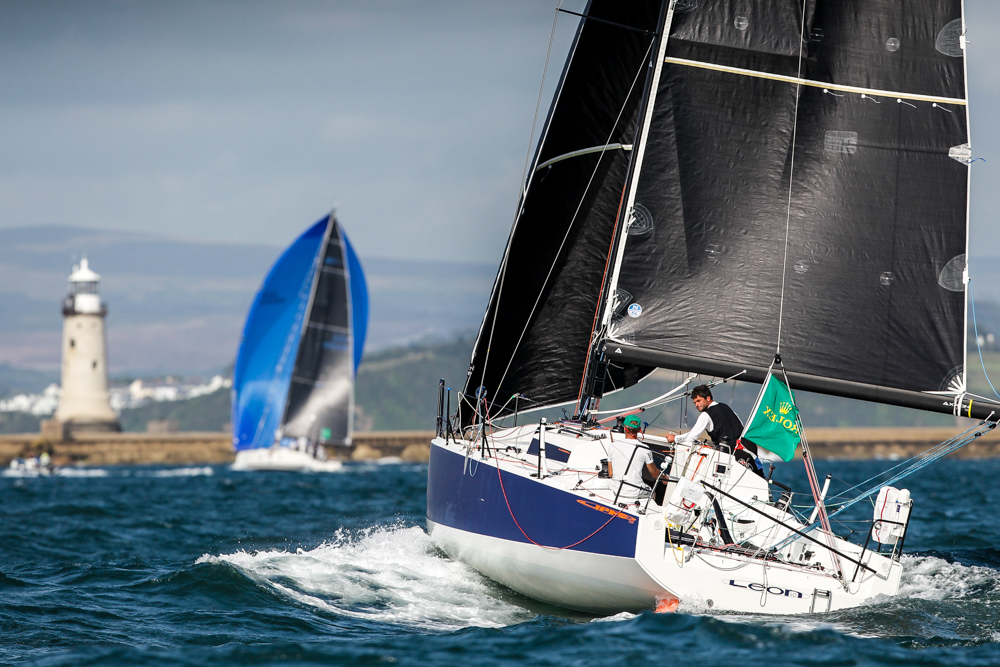 Léon pass the breakwater in Plymouth to take comprehensive wins in both IRC Three and IRC Two-Handed © Paul Wyeth/www.pwpictures.com