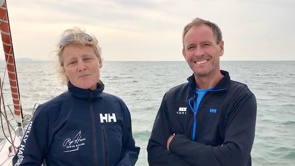 Pip Hare and Paul Larsen are racing her IMOCA 60, Pip Hare Racing