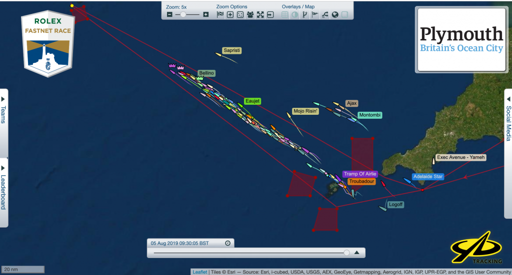 IRC Three and Four are making their way towards the Fastnet Rock