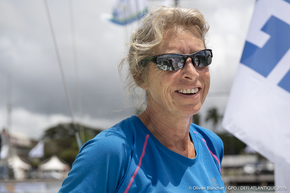 Moving up to the IMOCA class, Miranda Merron will be racing with Halvard Mabire on Campagne de France  © Olivier Blanchet/GPO/Defi Atlantique 2019