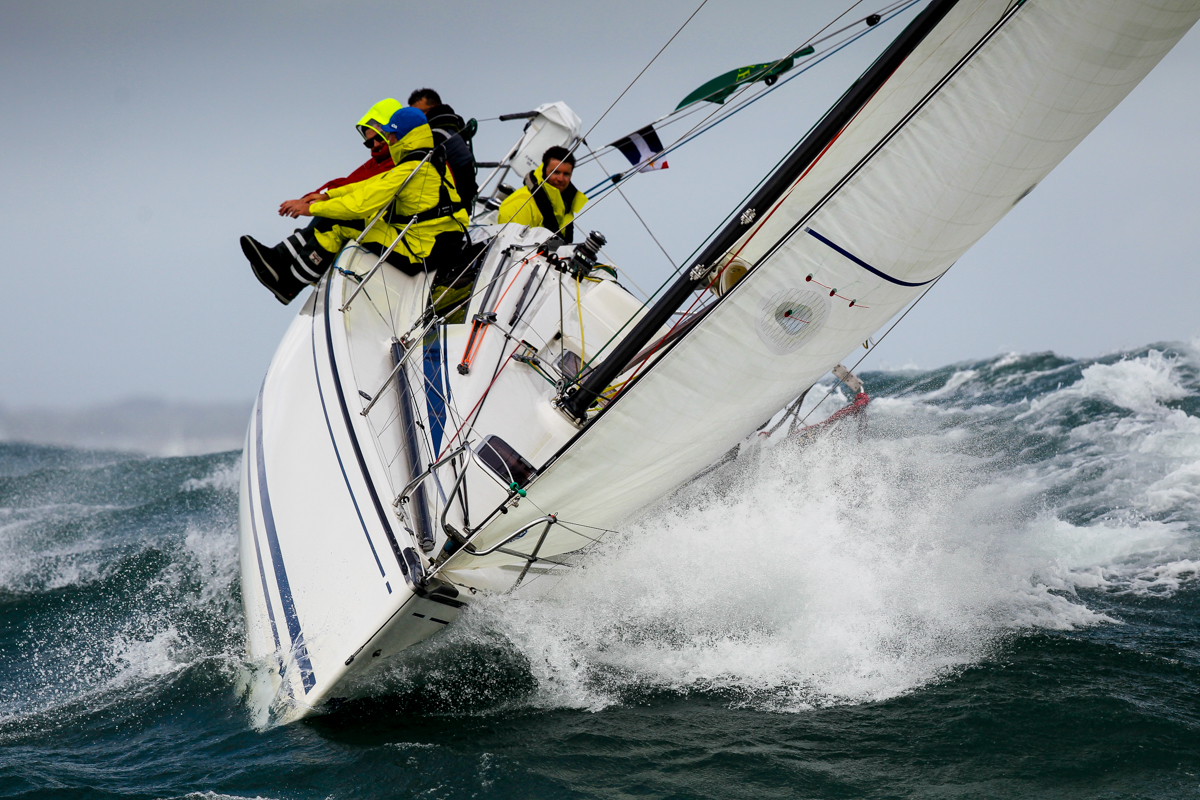 IRC Four entrant, Sun Hill 3 at the start of the race in Cowes © Paul Wyeth/pwpictures.com