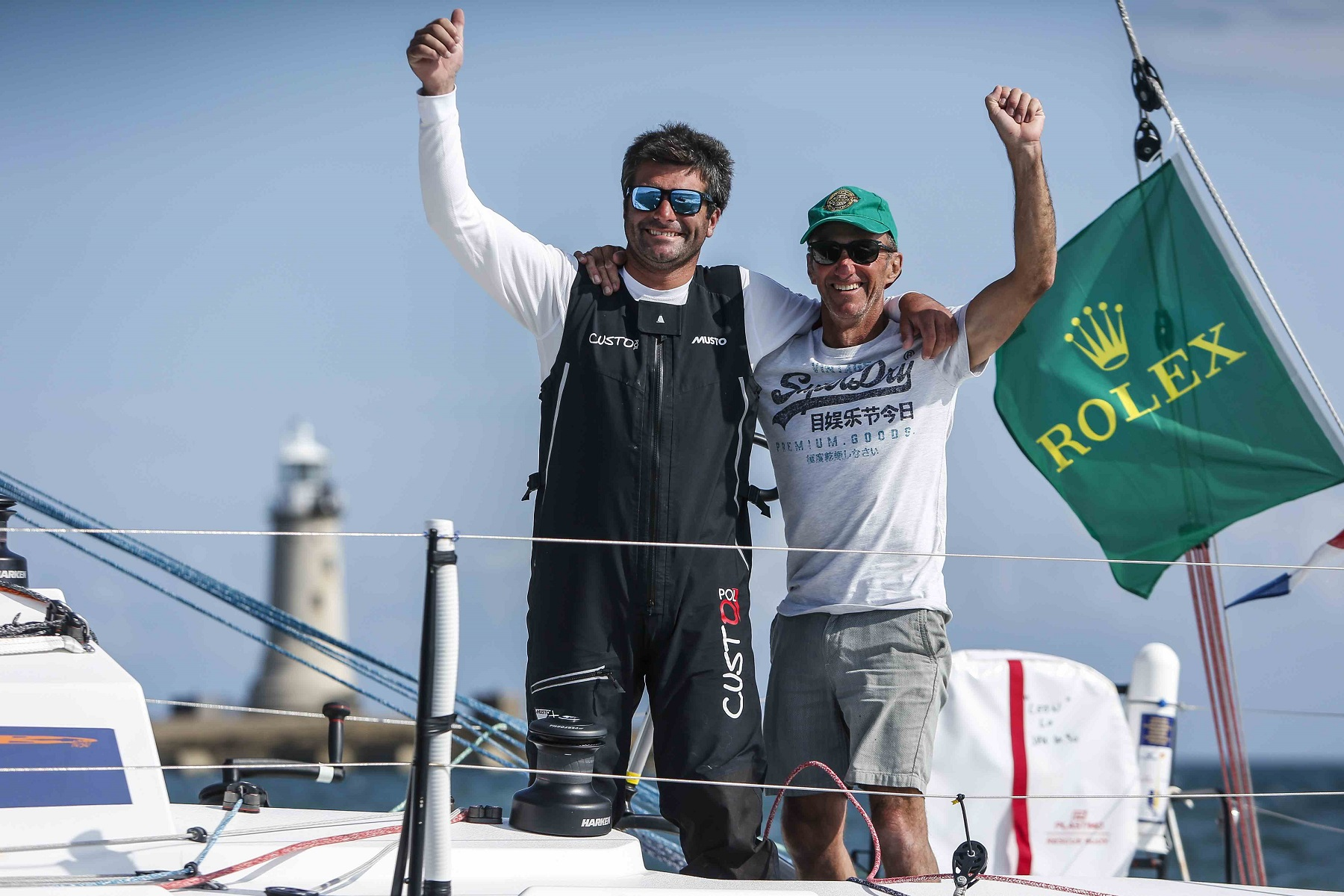 Defending their 2019 Rolex Fastnet Race IRC Two Handed title - Alexis Loison and Jean Pierre Kelbert on JPK 10.30 Léon  © Paul Wyeth/pwpictures.com
