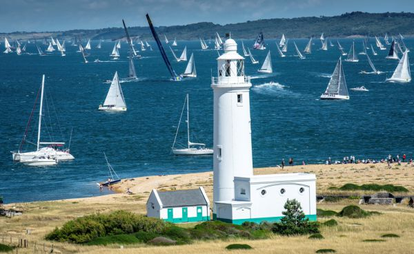 2013 Rolex Fastnet Race - The fleet leaving the Solent - Photo Rolex/Kurt Arrigo