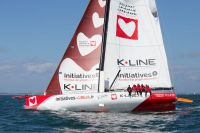 Tanguy de Lamotte's IMOCA 60 Initiatives Coeur © Initiatives Coeur